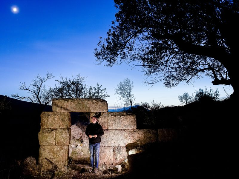 Tobias Schorr was researching Methana and its ancient culture since 1986 (c) Tobias Schorr