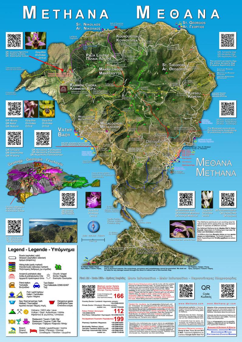 Touristische Karte Methanas