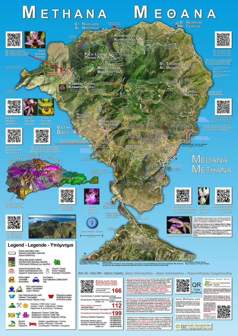 The Methana tourist map