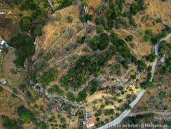 Luftbild der Akropolis Paliokastro bei Vathy / Methana (c) Tobias Schorr