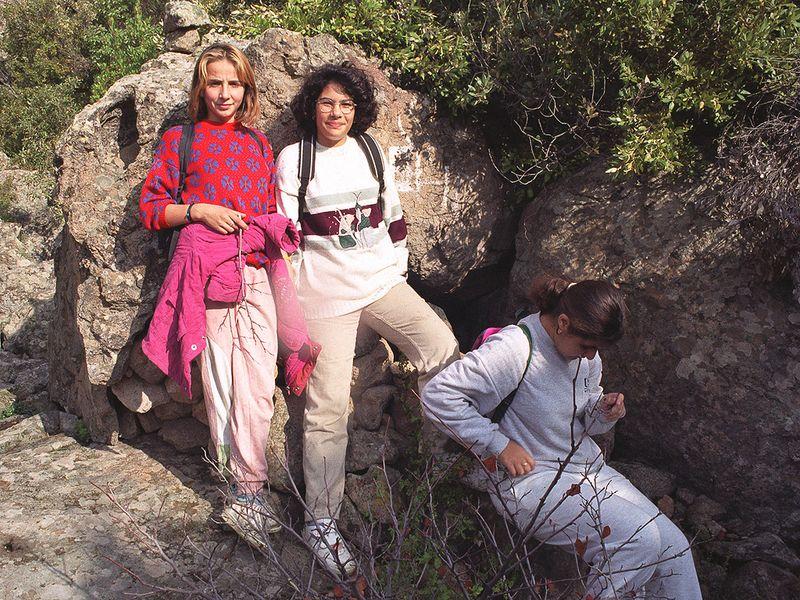 1996 führte ich eine Umweltgruppe des Gymnasiums von Methana in den Bergen der Halbinsel.