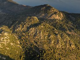 Aerial view of the Pikesa lava dome (c) Tobias Schorr
