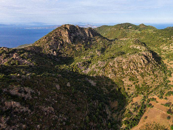 Aerial photograph of the Profitis Ilias volcano. June 2016. (c) Tobias Schorr