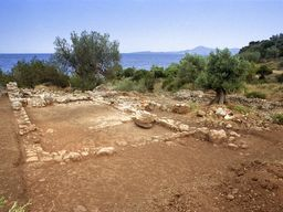 View of the Roman bath shortly after its excavation. (c) Tobias Schorr