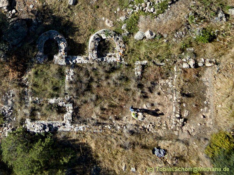 Aerial view of the Roman bath. (c) Tobias Schorr May 2016