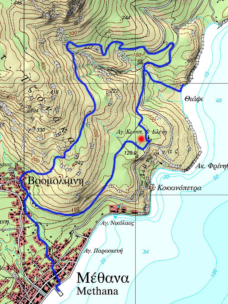 Karte der Wanderroute (c) ETH-Zürich
