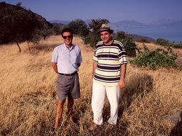 In 1996 I visited the stone head with my friends Stavros Maltezou and Spyros Papaioannou before the find was handed over to the archaeologist. (c) Tobias Schorr