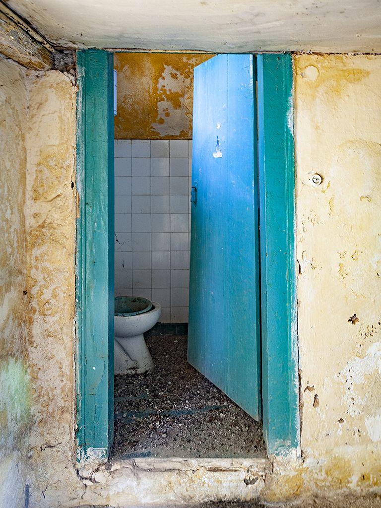 Eine Toilette im Hotel Aithra. (c) Tobias Schorr