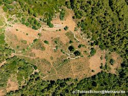 Aerial photo with the archaeological sites. (c) Tobias Schorr