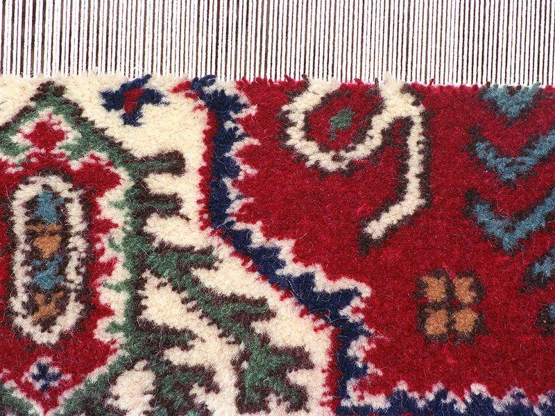 Detail eines selbst gewebten Teppich. (c) Tobias Schorr 1990