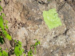 2105 habe ich zum letzten Mal an dem weg von Loutses bis zur Varkesa-Hochebene gearbeitet und die hellgrünen Markierungen gemacht. (c) Tobias Schorr