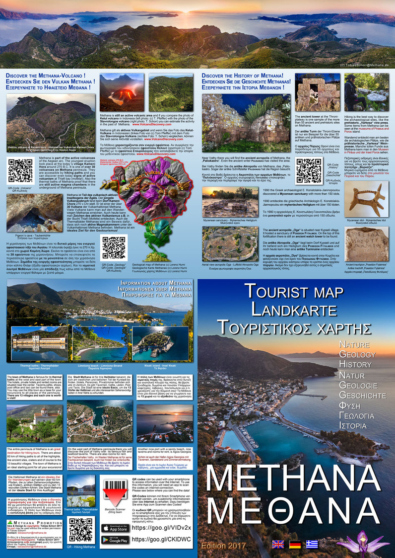 The back site of the new tourist map of Methana (c) Tobias Schorr