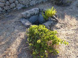 Eine uralte Zisterne aus den Säulenresten des antiken Heiligtums. (c) Tobias Schorr