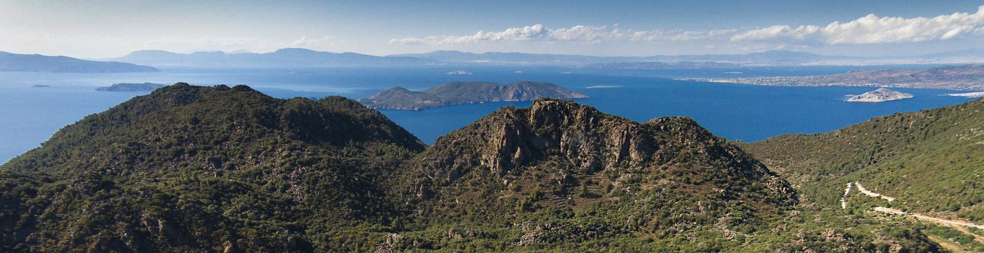 The Profitis Ilias volcano